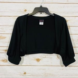 Torrid women's 3/4 sleeve black crop cardigan SZ 3